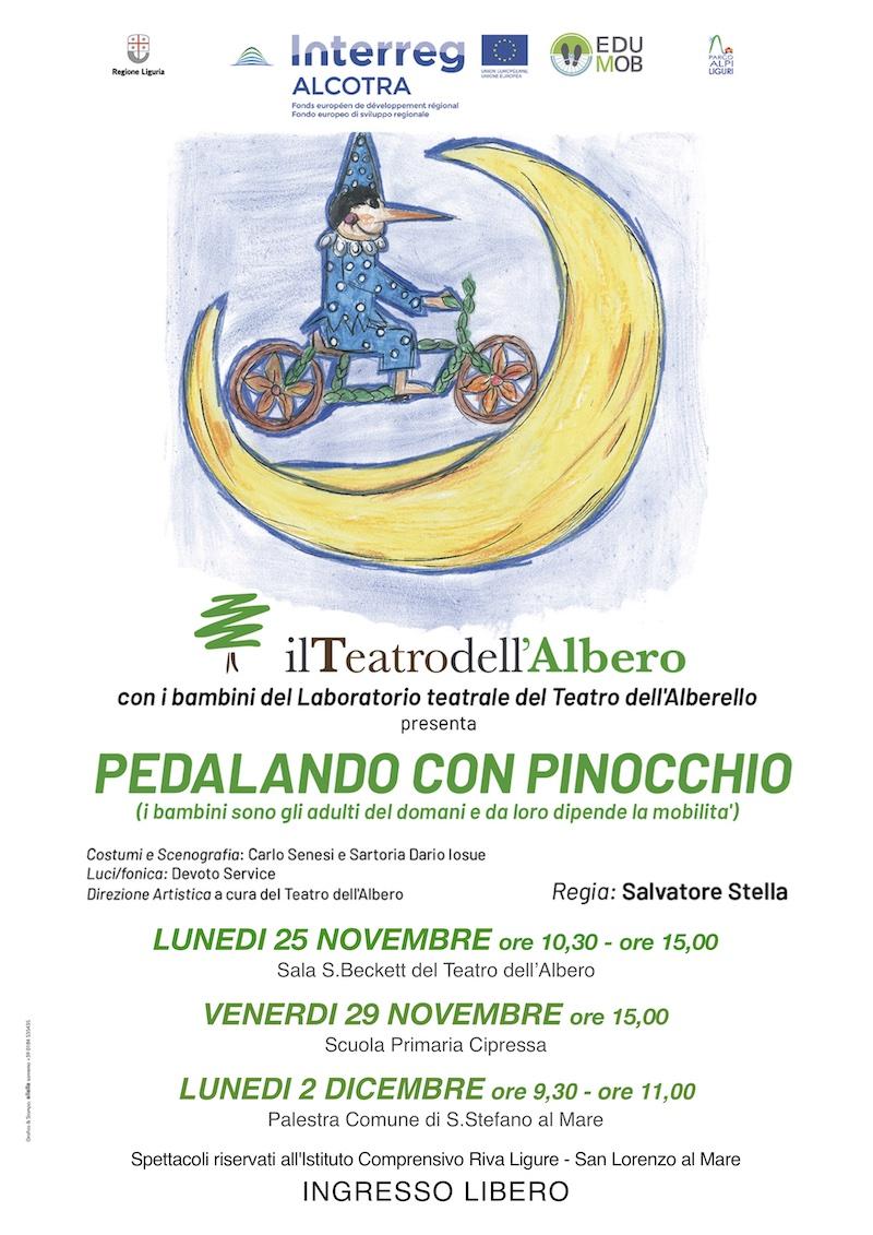 pedalando con pinocchio